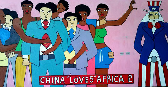 China Loves Africa 2 by Michael Soi